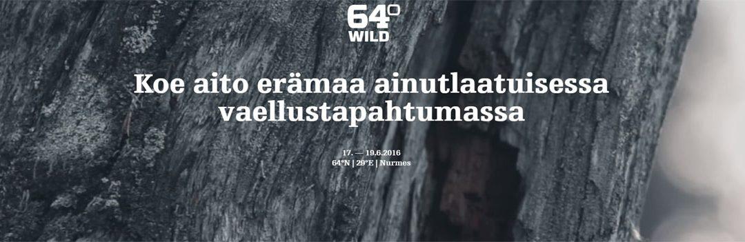 Mukana Wild 64 17-19.6 Vaelluksella Nurmeksessa